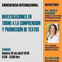 Imagen CONFERENCIA INTERNACIONAL: INVESTIGACIONES EN TORNO A LA COMPRENSIÓN Y PRODUCCIÓN DE TEXTOS