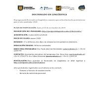 Imagen CONVOCATORIA 2020 DOCTORADO EN LINGÜÍSTICA